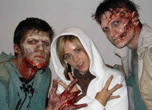 Aimee kicks it with the Zombies in Romania